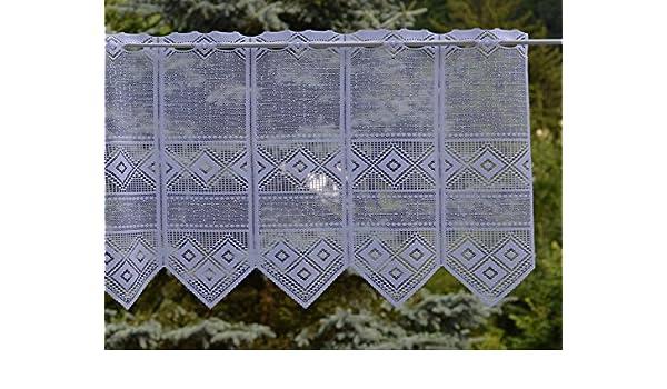 Gustav Gerster Rideaux /à Brise-Vue sur Mesure en Jacquard Hauteur : 45 cm R/églable Individuellement en Largeur Couleur : Blanc Largeur du Rideau par pi/èce : 15 cm