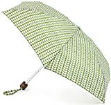 Orla Kiely Tiny Bi-Colour Stem Green Umbrella 87cms Open 15cms Closed
