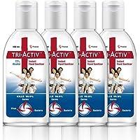 Tri-Activ Sanitizers, 72% Alcohol Based Instant Sanitizer – (100 ml)- Pack of 4