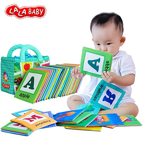 lalababy-baby-early-education-26pcs-alphabet-words-cloth-card-with-cloth-bag