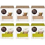 Nescafé Dolce Gusto Kit Degustazione di Caffè Cortado Espresso Macchiato e Cappuccino, 6 Confezioni da 16 Capsule (96 Capsule