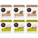 Nescafé Dolce Gusto Kit Degustazione di Caffè Cortado Espresso Macchiato e Cappuccino, 6 Confezioni da 16 Capsule (96…