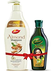 Dabur Almond Shampoo, 350ml with Free Amla Hair Oil, 275ml