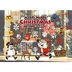 Eizur Natale Rimovibile Vetrofanie Adesivi Murali Finestra Decorazione Fai da te Adesivi da Parete Decorazione Murale Vetrina Sfondo Regali di Natale