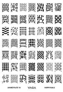 Cheeky Plaque Jumbo Nail Art 10 de 42 Designs