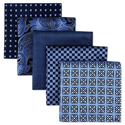 Shlax&Wing, 5Stück sortierte Taschentücher für Herren, quadratisch Gr. Einheitsgröße, Set11 -