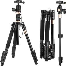 """Kamera Stativ 55,12""""/ 140 CM, SAWAKE leichtes Reisen Kamerastativ, Kamera Drei-/Einbeinstativ mit 360 Kugelkopf, Monopad für SLR/DSLR Canon, Nikon, Sony, Samsung, Olympus, Panasonic & Pentax (Aluminium, Höhe: 55,12"""", Gewicht: 1.30KG, Belastbarkeit: 8KG-10KG) mit Tasche"""