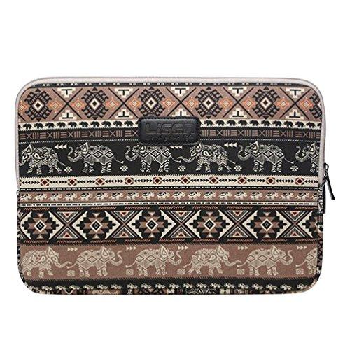 Baymate Unisex Borsa Sleeve Involucro Per Notebook Laptop Pc Portatile Macbook 11.6-15.6 Pollici Con Modello Elephant 13 Pollice Caffè