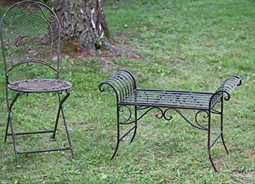 Nostalgie Gartenbank Metall Sitzbank antik Stil Bank Hocker garden bench - 6