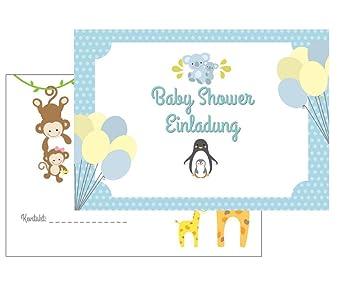 Baby Shower Einladung, Babyshower Einladungskarten, Baby Party, 10 Karten  Mit 10 Umschlägen Briefumschläge