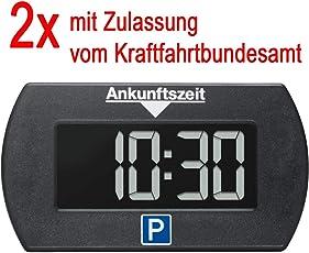 2x Park Mini elektronische Parkscheibe digitale Parkuhr mit offizieller Zulassung