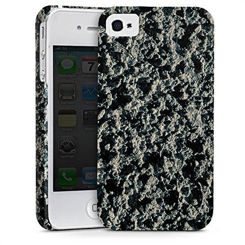 Apple iPhone X Silikon Hülle Case Schutzhülle Lavastein Struktur Stein Muster Premium Case glänzend