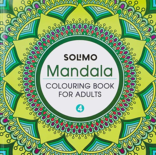 Amazon Brand - Solimo Mandala Colouring Book for Adults 4