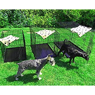 AVC Small Pet Dog Puppy Cat Metal Foldable Carry Transport Training Cage Crate (Small/Medium) 3