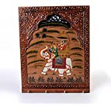 Wooden Carved and Hand Painted Four Key Stand 297