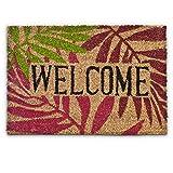 Relaxdays 10016776 'Welcome' Fußmatte rutschfest Kokos 40 x 60 cm
