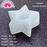 #2: Selenite Tea Light Candle Holder Star Shape for Reiki Healing and Meditation, Vastu, Protection, Peace, Skeleton System Tea Light Candle Holder