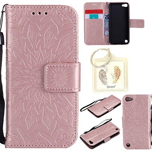 für Apple iPod Touch 5 / 6 Geprägte Muster Handy PU Leder Silikon Schutzhülle Handy case Book Style Portemonnaie Design für Apple iPod Touch 5 / 6 + Schlüsselanhänger(/*2) (5) -