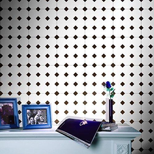JY ART V Stickers muraux Carreaux en Vintage Salle de Bain et Cuisine | adhésif Sticker Feuille pour Carreaux Salle de Bain et crédence Cuisine CZ011, 20cm*5m