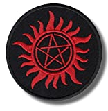 Lone patch Pentagram Sun - Embroidered Patch 8x8 cm