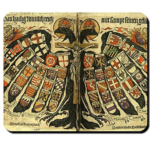 Quaternionenadler Mittelalter Heiliges Römisches Reich Jost de Negker Wappen Adler - Mauspad Mousepad Computer Laptop PC #8582 M