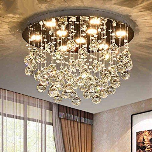 ZHANGRONG-Gute Qualität- Flush Mount LED Crystal Decke Pendelleuchten Modern/Zeitgenössische Feature Für Crystal Metal Versprechen Dimmen -Efficiency:A+++ (größe : 70CM-50W) (Crystal Flush Mount Beleuchtung)