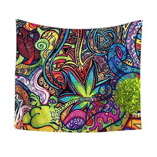 Tapiz psicodélico, hippie, tapiz para colgar en la pared, decoración