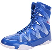 Men's Boxing Shoes, High Top Fighting Sneakers Breathable Lightweight Anti-Skid Indoor Wrestling Squat Fitness Training