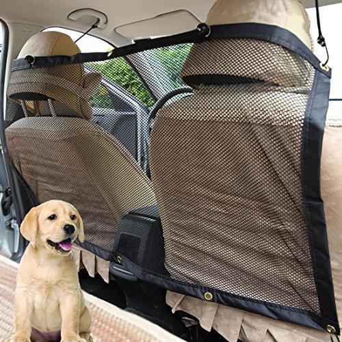 Big ANT Auto Sicherheitsnetz für Haustier Hund, Universal Fahrzeug Hundenetz Auto, Keep Pets Off The Front Seat Autonetz Hund mit Haken und Seile (120 x 71 cm)