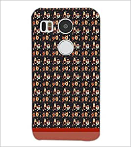 PrintDhaba Owl Pattern D-1708 Back Case Cover for LG NEXUS 5X (Multi-Coloured)