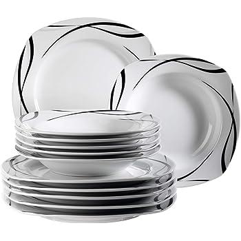 Domestic by Mäser Série - Oslo Service de table 12-pièces pour 6 personnes d9206f53c958