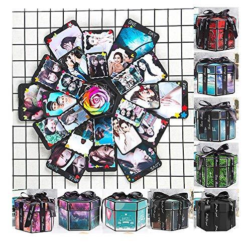 Binggong Hot Pants Kreative Überraschung Explosion Box Handgemachtes 43X43CM Scrapbook DIY Faltendes Fotoalbum,Gedenkalben Geburtstagsgeschenke Jahrestag Valentine Hochzeit Geschenk, Muttertag -