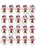 20 Minnie Mouse essbaren Kuchendeckel Dekorationen