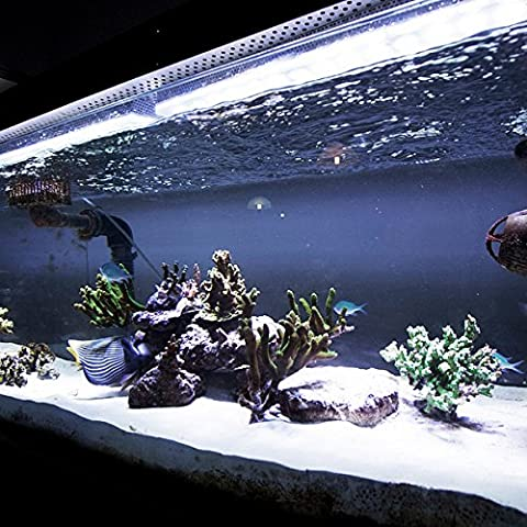 Cool White Aquarium LED Strip Light Set / Aluminium Rigid Tube Set, 50cm, Fully Waterproof / Submersible, 30 Super Bright 5050 LED Chips (The brightest LEDs available, Fantastic for Fish Tanks, Aquariums, Water Features, Gardens,
