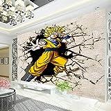 WLPBH Papier Peint Mural Auto-Adhésif 3D (W) 250X (H) 175Cm Dragon Ball Photo Wallpaper Papier Peint 3D Anime Peinture De Bande Dessinée Papier Peint Garçon Enfant Chambre Salon Art Mural
