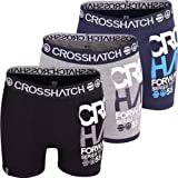 Crosshatch 3 Pack Mens Designer 'Multi Parader' Boxer Shorts Boxers Underwear Trunks Gift Set