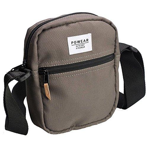 PG Wear Medium schwarz beige Borsa Messenger beige Beige Länge 16cm, Höhe 20cm, Breite 4cm Beige