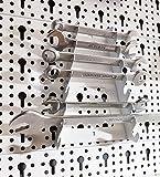 Element System Werkzeuglochwand aus Metall, Heimwerker-Grundset inklusive Schrauben und Dübel, weiß, 11300-00005 - 6