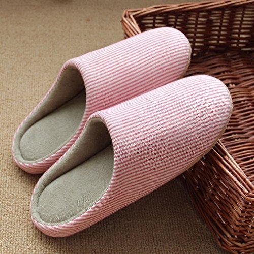 La vogue Frauen warme Pantoffeln Anti Rutsch Hausschuhe Rosa