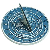 Handmade Crystal Wedding & Anniversary Sundial Gift By The Metal Foundry Ltd.