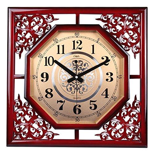 JRZSNLJY Kreative europäische Schlafzimmer minimalistischen lebende Chinesische Moderne antike Uhr clock Mute rund D