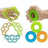 Hand Grip Strengthener, Finger Exerciser, Grip Strength Trainer (6 Pezzi), Nuovo Materiale, Allenamento Presa avambraccio, al