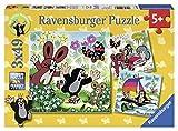 Ravensburger 9209 - Unterwegs mit dem Maulwurf Puzzle, mehrfarbig (3X49 Stück)