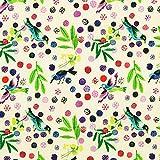 Fabulous Fabrics Cretonne Vögel Roitelet - Meterware ab