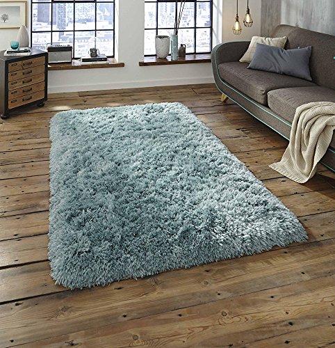 Muy grueso super suave Shaggy calidad acrílico alfombra en amarillo, azul, rojo, gris Shag alfombras de pelo 8,5cm, azul claro, 80x150cm (2'6''x5'0'')