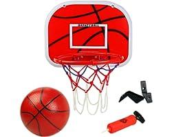 Canestro Basket Bambini Giocattolo Sportivo Pallacanestro Tabellone Basket Giardino Giochi all Aperto eInterno per Bambini 6