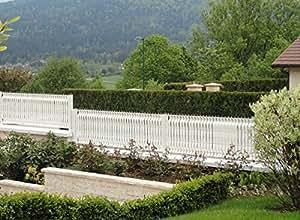 Jardideco - Lanière PVC pour palissade largeur 50 mm x 60 m+100 clips- Blanc