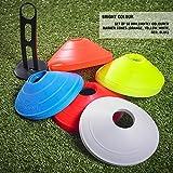 Optimum SportsLand - Set da 50 coni di segnalazione, colori vari, taglia unica