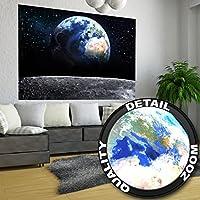Póster Tierra Mural Decoración Vista a la Tierra desde el espacio Luna Cielo Planeta Galaxia Universo Espacio Cosmos Globo Estrellas | foto póster mural imagen deco pared by GREAT ART (140 x 100 cm)