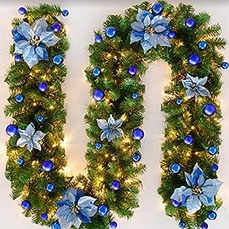Marlon114Him-Weihnachts-Girlande-Weihnachts-Tannenzweiggirlande-Deko-Aussen-Weihnachtsgirlande-Treppe-Christmas-Decorations